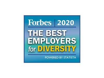 Best Employers for Diversity Award by Forbes