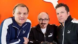 Björn Gulden, Helmut Fischer und Lothar Matthäus