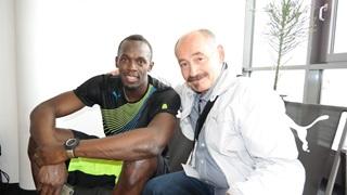 Usain Bolt und Helmut Fischer