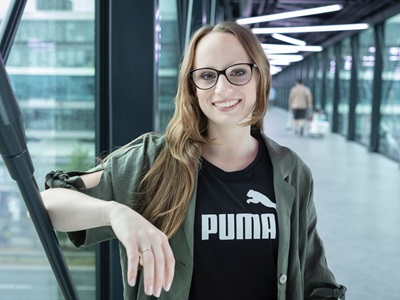 PUMA employee on the PUMA bridge