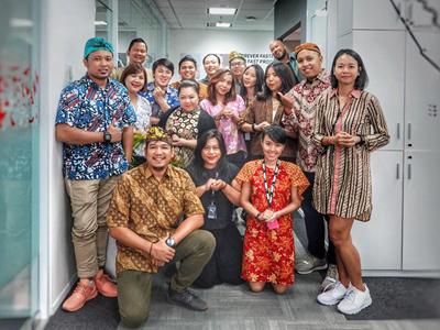 Gruppenbild bei PUMA Indonesien