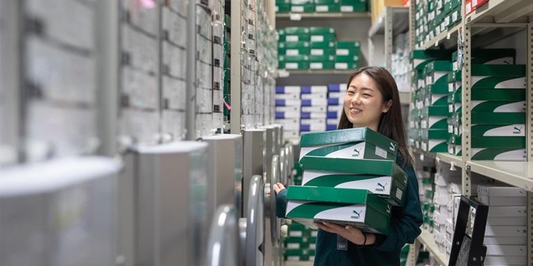 PUMA employee storage