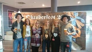 six PUMA employees at the Oktoberfest event