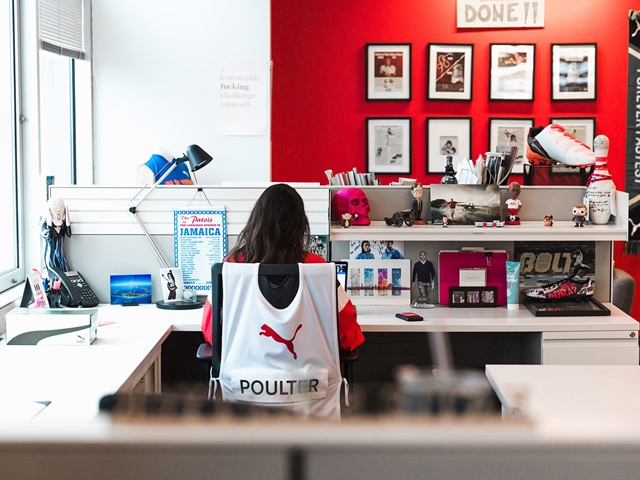 PUMA employee at work