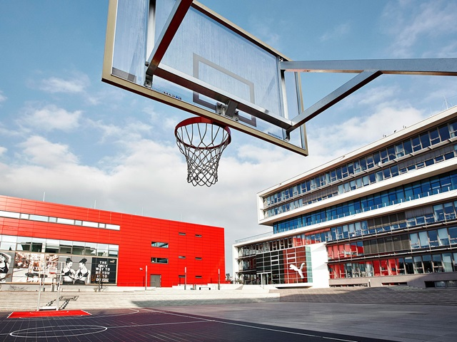 Basketball court at the PUMA headquarters
