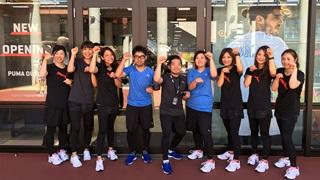 PUMA employees during opening Japan