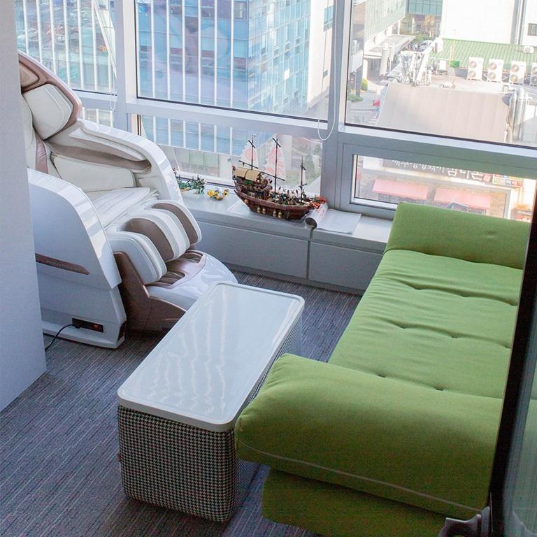 Entspannungsraum im Büro Korea