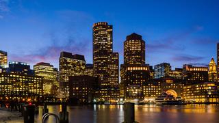 Boston city view at night