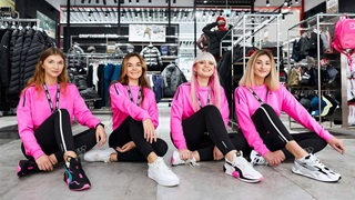PUMA Ukraine employees in pink