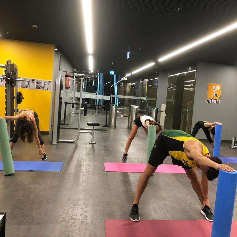 PUMA Mitarbeiter beim Workout