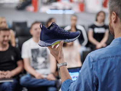 A man showcasing a PUMA shoe