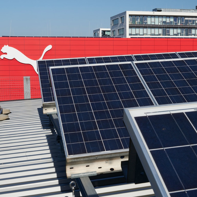 Solaranlage am PUMA Firmensitz
