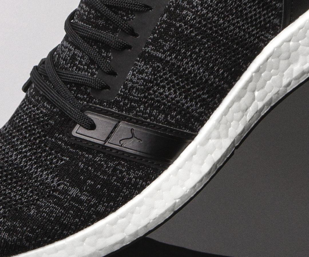 black PUMA shoe