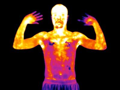 Wärmebild eines Oberkörpers