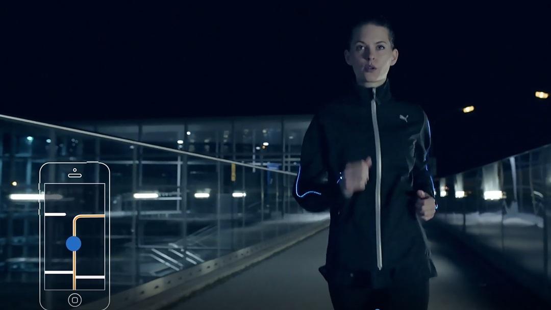 Athlete wearing Nightcat Powered Jacket