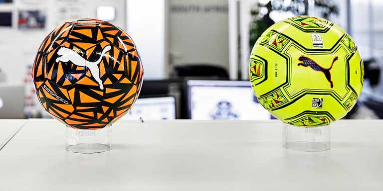 PUMA Soccer Balls displayed in the Office