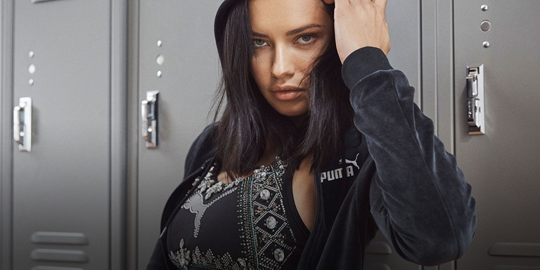 Adriana Lima im PUMA Outfit