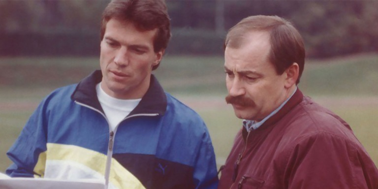 Helmut Fischer und Lothar Matthäus