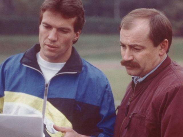 Lothar Matthäus and Helmut Fischer