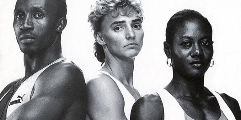 Heike Drechsler, Merlene Ottey and Linford Christie