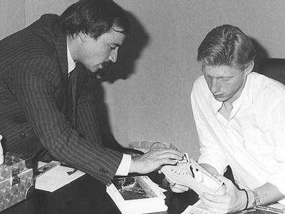 Boris Becker and Helmut Fischer