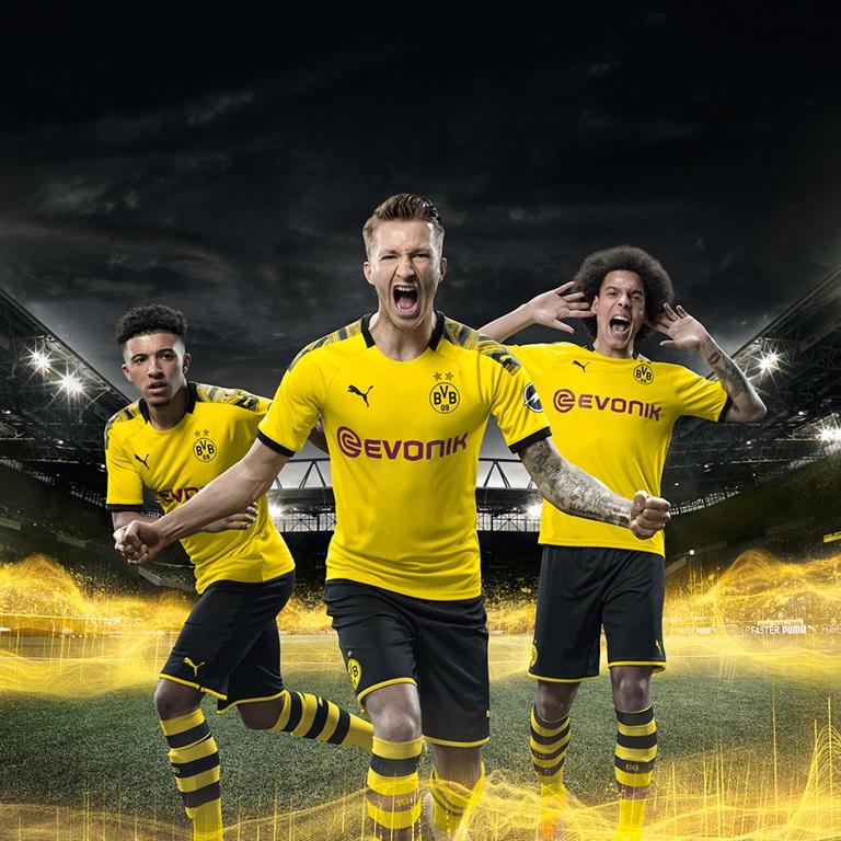 Borussia Dortmund Spieler in PUMA Trikots